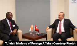 Mevlüt Çavuşoğlu, Mali Dışişleri Bakanı Abdoulaye Diop