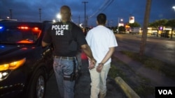 U.S. Immigration and Customs Enforcement (ICE) arrested illegal immigrants. (Photo courtesy of ICE)