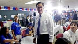 Republican presidential candidate Mitt Romney at his campaign headquarters in Jacksonville, Fla., Sept. 12, 2012.