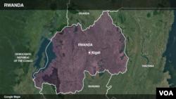 Ramani ya Uganda na Rwanda