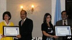 اعصام، حدیقہ اقوام متحدہ کے خیر سگالی سفیر مقرر