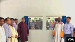 Inauguration ceremony of the new Cyclone Shelter in Bangladesh