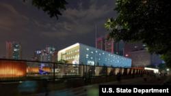 중국 남부 광저우의 미국 영사관. 미 대사관 제공 사진.