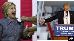 克林顿(左)川普分别赢得佛罗里达党内初选