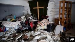 中国河南一个被拆除的家庭教会(2018年6月3号)