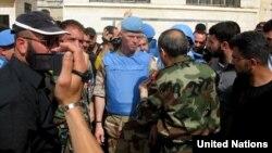 聯合國的敘利亞觀察團團長穆德在霍姆斯省視察