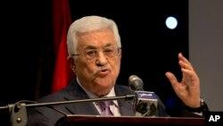 سخنرانی محمود عباس رئیس تشکیلات خودگردان فلسطینی در رام الله در کرانه باختری - ۱۴ دی ۱۳۹۳