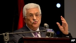 Palestinian President Mahmoud Abbas speaks during a conference in the West Bank city of Ramallah Jan. 4, 2015.
