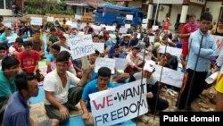 په اندونیزیا د افغان مهاجرو اعتصاب