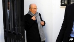 12月22日突尼斯總統決選後,88歲的前政府部長埃塞卜西獲勝。
