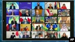 موسمیاتی تبدیلیوں پر ہونے والے ورچول اجلاس میں چالیس ملکوں کے سربراہان اور نمائندے شرکت کر رہے ہیں۔