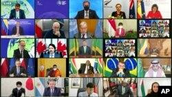 Svjetski lideri učestvuju u Klimatskom samitu Bijele kuće preko video linka, 22. aprila 2021.