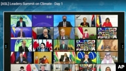 Svetski lideri učestvuju u Klimatskom samitu Bele kuće preko video linka, 22. aprila 2021.