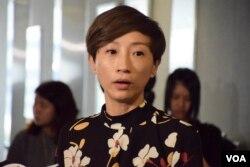 香港公民黨立法會議員陳淑莊。(美國之音湯惠芸)