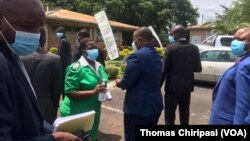 Zimbabwe VP Arrives at Wilkins Hospital for Covid 19 Vaccine