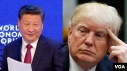 Chủ tịch Trung Quốc Tập Cận Bình và Tổng thống Hoa Kỳ Donald Trump