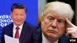 Dari kiri: Presiden China Xi JInping dan Presiden Amerika Serikat, Donald Trump. (Foto: dok).
