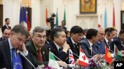 کابل جون ٦، ٢٠١٧ - د افغانستان په اړه د اروپایي ټولنې او د ملگرو ملتونو د سفیرانو غونډه