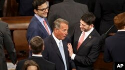 John Boehner i Paul Ryan, od četvrka, kako se očekuje, bivši i novi predsjedavajući Zastupničkog doma