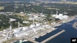 震前日本福岛核电站2010年9月8日鸟瞰图