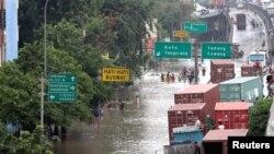 Banjir di Jakarta awal 2013. (Foto: Dok)