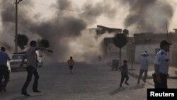 Последствия взрыва в Акчакале, Турция. 3 октября 2012 года