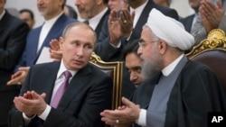 تصویر آرشیوی از روسای جمهوری ایران و روسیه