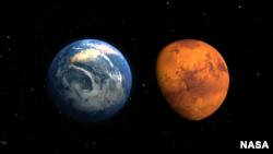 ځمکه او مریخ