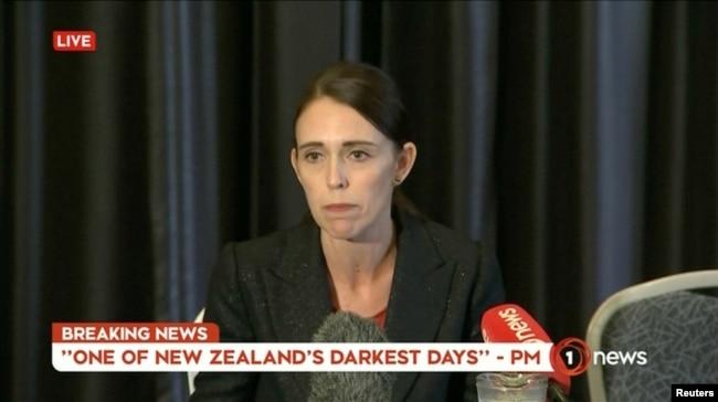 Yen Zelanda Başbakanı Jacinda Ardern saldırının ardından basın toplantısı düzenledi