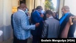 Inkokheli yebandla leMDC Alliance iphandle kwedale lephalamende.