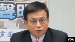 台湾在野党国民党立委赖士葆(美国之音张永泰拍摄)