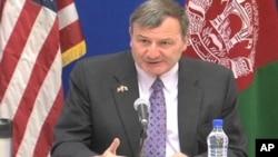 ملاقات وداعیه سفیر امریکا با رئیس جمهور افغانستان درکابل