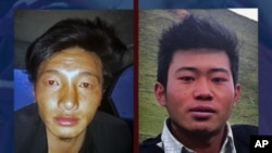 Ngawang Norphel, right, and Tenzin Khedup, left, self-immolated today around 3. 30 pm