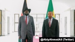 President Salva Kiir and Prime Minister Abiy Ahmed