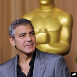 "George Clooney, a Best Actor nominee for ""The Descendants"" and an Adapted Screenplay nominee for ""The Ides of March,"" at Academy Awards Nominees Luncheon in Beverly Hills, Feb. 6, 2012."