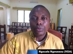 Roch Euloge N'zobo activiste des droits politiques et civiques, le 12 septembre 2017. (VOA/Ngouela Ngoussou)