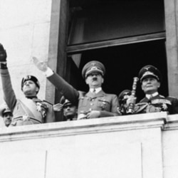 Adolf Hitler with German and Italian officials in 1939