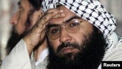 """""""穆罕默德軍"""" 的馬蘇德·阿茲哈爾。中國利用否決權阻止聯合國安理會將其列入黑名單,印度對此感到憤怒。"""