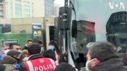 درگیری پلیس و دانشجویان معترض در استانبول