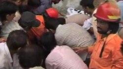 آتشسورزی در کارخانه ای در کراچی (پاکستان)