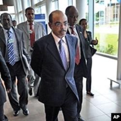 Ethiopian PM Meles Zenawi (File)