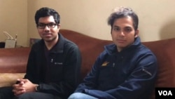 Rohan Phadte, left, and Ash Bhat are computer science students at the University of California, Berkeley. (M. Quinn/VOA)
