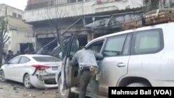 یک خودروی بمبگذاری شده روز چهارشنبه در نزدیکی مقر نیروهای ائتلاف بین المللی به رهبری آمریکا منفجر شد.