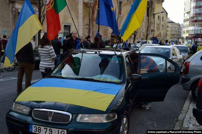 Автомайдан проехался по Португалии. ФОТО