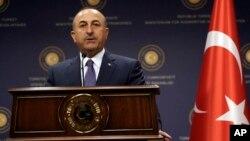 Menteri Luar Negeri Turki Mevlut Cavusoglu memimpin pertemuan [ara Menlu negara anggota OKI di Istanbul, Selasa 1/8 (Foto: dok).