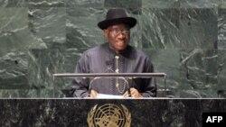 Tổng thống Nigeria Goodluck Jonathan.