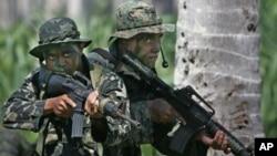 美國和菲律賓在上月底開始年度'肩並肩'軍事演習。(資料圖片)