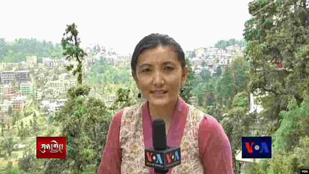 Tenzin Sangmo, a stringer for the Tibetan Service,repors from Dharamsala, India for Kunleng News