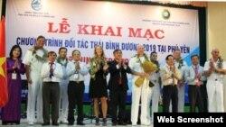 Hôm 6/5/2019, Hoa Kỳ, Việt Nam và các quốc gia đối tác đã tham dự lễ khai mạc chương trình Đối tác Thái Bình Dương 2019 (PP19) tại thành phố Tuy Hòa, tỉnh Phú Yên. Photo Đại sứ quán Hoa Kỳ tại Việt Nam.