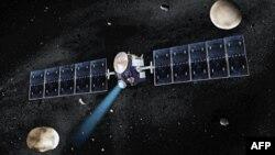 Umetnički prikaz svemirske sonde Dawn